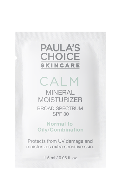 Calm Redness Relief Mineral Moisturizer SPF 30 normal to oily skin Sample
